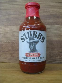 Stubbs Spicy Bar-B-Q Sauce 1 Flasche 450ml