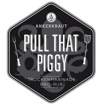 Ankerkraut: Pull that piggy, Pulled Pork und Ribs BBQ-Rub, Tüte 750g